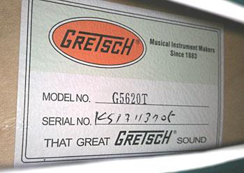 gretsch Electromatic G5120のシリアルナンバー