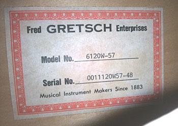 gretsch6120W-57のシリアルナンバー